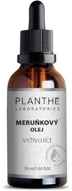 PLANTHÉ Laboratories Meruňkový olej vyživující – lahvička s kosmetickým olejem a kapátkem