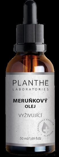 Meruňkový olej na pleť PLANTHÉ Laboratories vyživující a hydratující je s extrakty rakytníku vhodný i po opalování.
